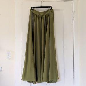 Gorg green maxi skirt